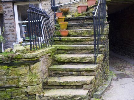 wensleydale: Hawes in Wensleydale in the Yorkshire Dales England