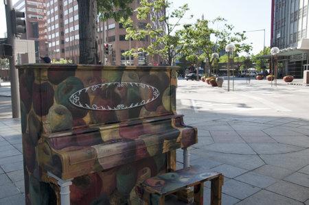 Piano in Street in Denver Colorado USA