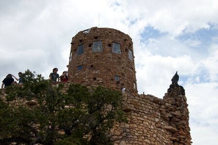 Desert View Watchtower in Grand Canyon National Park Arizona