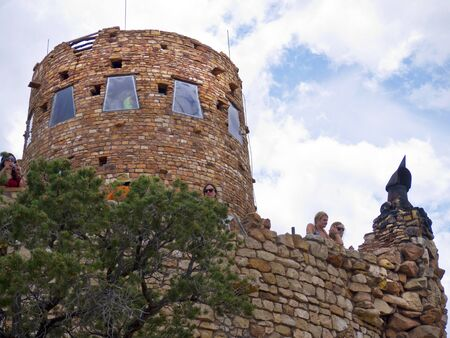 mesas: Desert View Watch Tower in Grand Canyon National Park Arizona