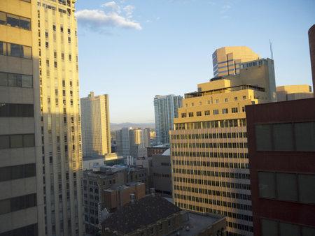 Skyline of Denver Colorado USA