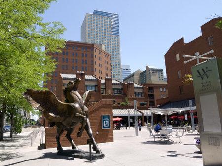 Pegasus Statue in Denver Colorado USA