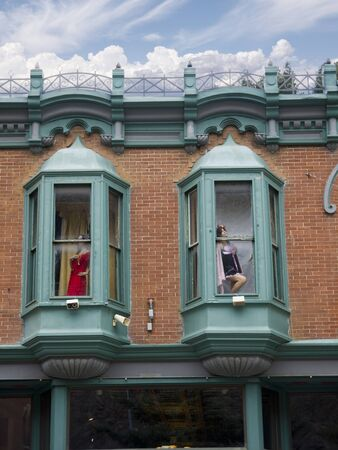 Main Street Deadwood  South Dakota with Mannekins placed as Occupants of a Cathouse