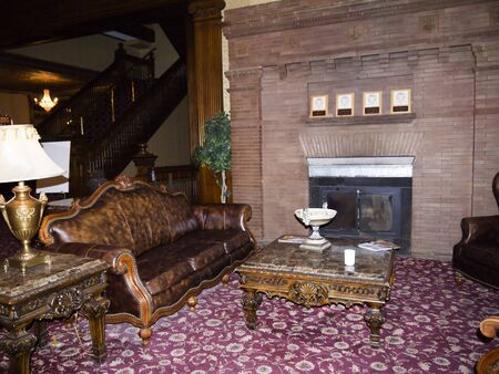 deadwood: foyer of the Cattlemens Hotel in Deadwood South Dakota
