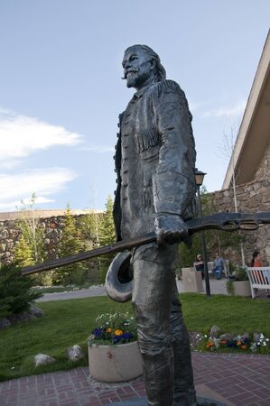 cody: Statue in Buffalo Bills Museum in Cody Wyoming USA