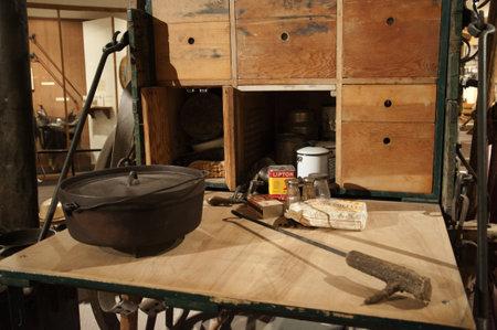 cody: A Chuck Wagon in Buffalo Bills Museum in Cody Wyoming USA
