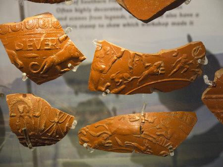 wharfedale: Cer�mica romana en Ilkley Yorkshire