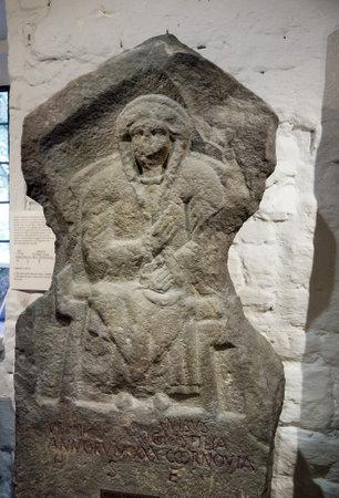 wharfedale: Altar romano en Ilkley Yorkshire Editorial