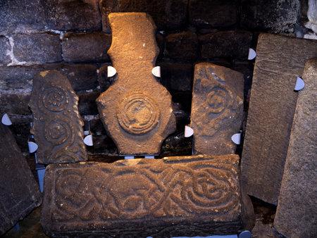 wharfedale: Romano tallado piedras en Ilkley, que es una ciudad balneario en West Yorkshire, en el norte de Inglaterra. Editorial
