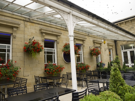 wharfedale: The Old Railway Station in The Spa Town of Ilkley in West Yorkshire England