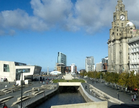 liverpool: Liver Building in Liverpool Merseyside Editorial