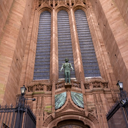 The Anglican cathedral of Liverpool Merseyside Editorial
