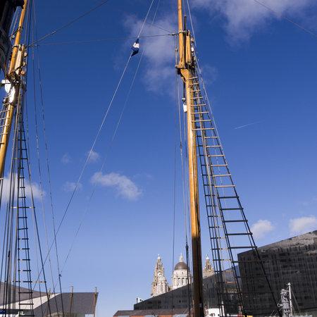 merseyside: Albert Dock di Liverpool Merseyside Inghilterra