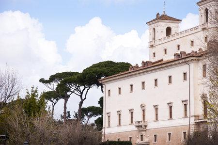 the Villa Medici in Rome Italy