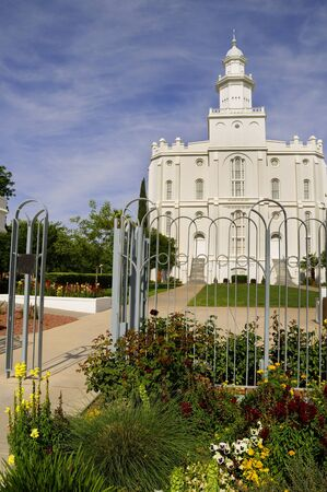 mormon temple: Mormon Temple at St George in Utah USA