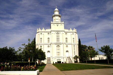 mormon: Mormon Temple at St George in Utah USA