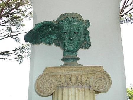 Copy of Ancient Bronze Statue on the Island of Capri Italy