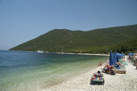 Bay of Antisamos near Sami on the island of Kephalonia for a relaxing day away from everything.