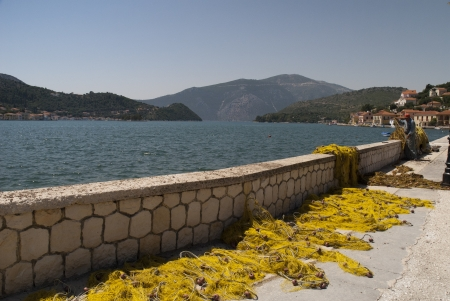 Fishermans nets on Ithaka Greece