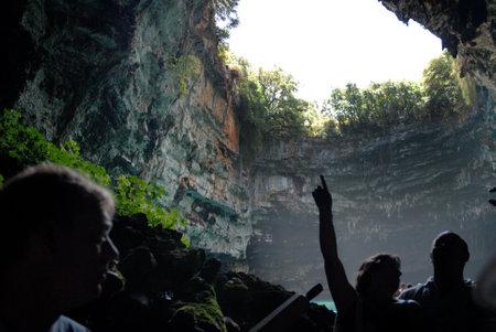 Mellisani Underground Lake on the island of Kephalonia Greece