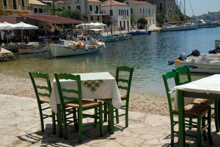 Kioni on the island of Ithaka Greece