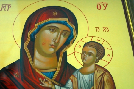 Icon in Church on the island of Ithaka Greece