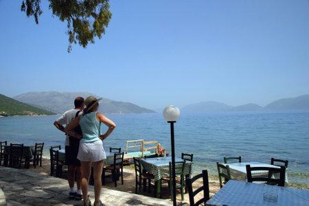 Karavamolos on the Island of Kephalonia on the West Coast of Greece