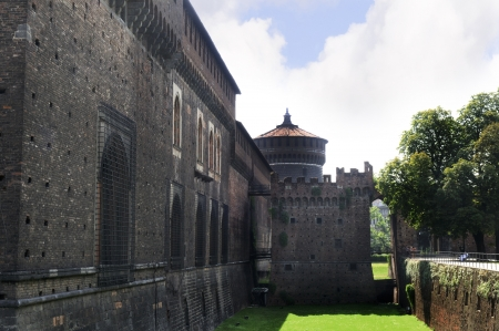 sforza: Sforza Castle in Milan Italy.In 1183, Milan became a duchy In 1450 Milan was conquered by Francesco Sforza, who made Milan one of the leading cities of the Italian Renaissance.
