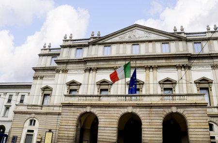 scala: La Scala Opera House in Milan Italy