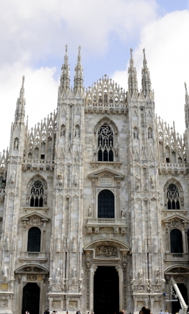 Facade of Milan Cathedral in Northern Italy
