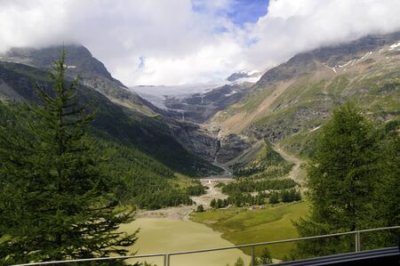 Swiss Alps near St Moritz Switzerland Europe