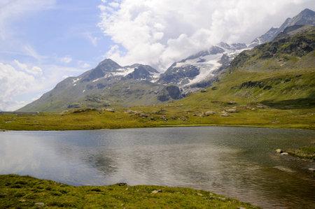 Swiss Alps near St Moritz Switzerland Europe