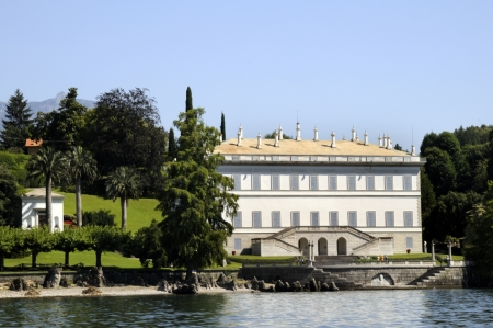 Villa Melzi on Lake Como in Italy.This is one of the most beautiful villas on this spectacular lake in Northern Italy.