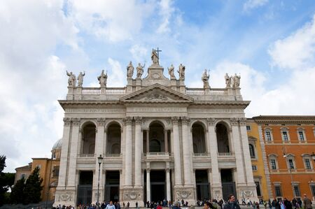 Magnificent Basilica of St John Lateran in Rome Italy