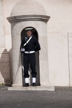 Guards in the Quirinale Palace in Rome Italy Stock Photo - 19507371