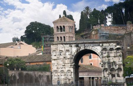 janus: Arch of Janus in Rome Italy