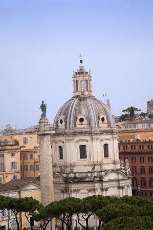 Trajans Column in the Forum Area Rome Italy