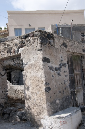 messa: Messa Gornia a village ruined by an earthquake on the island of Santorini Greece
