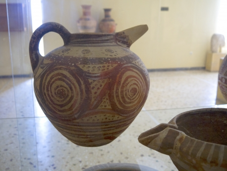 minoan: Minoan Pottery from the buried city of Thera on the Island of Santorini Greece