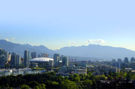 City Scape of Vancouver in British Columbia Canada