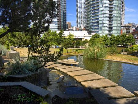 yat sen: Sun Yat Sen Garden in Chinatown in Vancouver in British Columbia in Canada Editorial