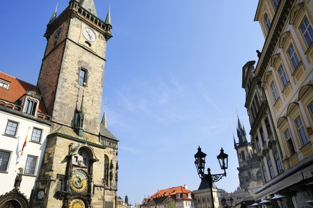 The Astronomical Clock in Prague, Czech Republic Europe