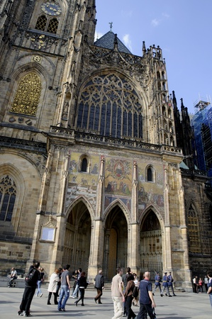 St Vitus Cathedral in Prague in the Czech Republic