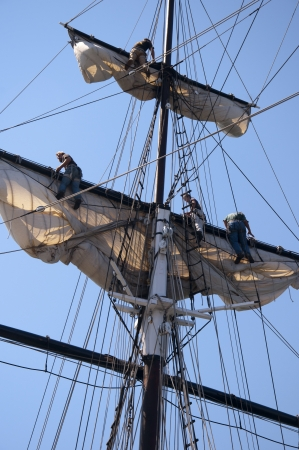 Tall Sailing Ships in Harbour of San Diego California USA