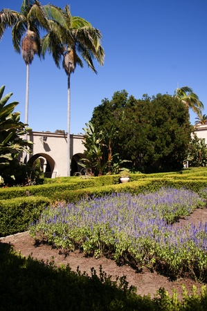 cid: Spanish Style Buildings in Balboa Park in San Diego California USA