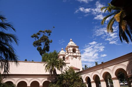 Spanish Style Buildings in Balboa Park in San Diego California USA