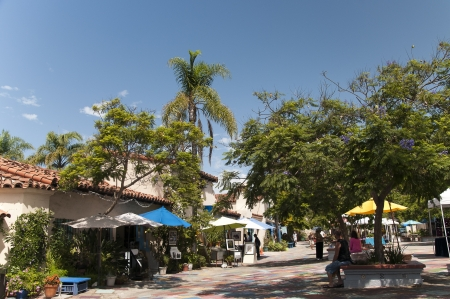 cid: Spanish Village in Balboa Park San Diego California USA Editorial