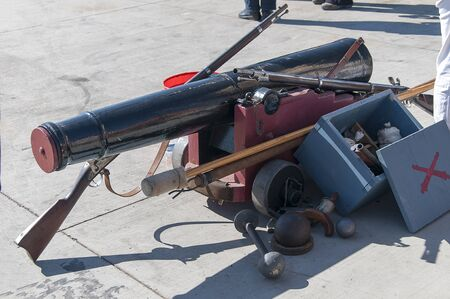 Cannons on quayside in Festival in San Diego California