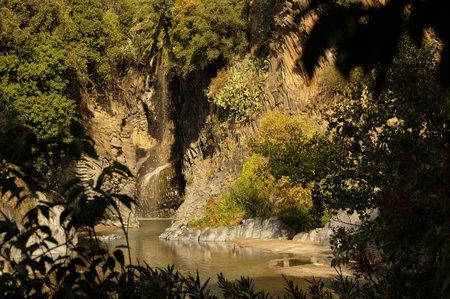icily: the Alcantara Gorge in icily Italy Editorial