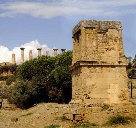 Valley of the Temples at Agricento in Sicily Italy